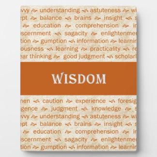 wisdom plaque