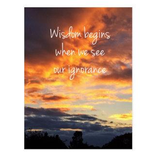 Wisdom Postcard