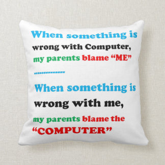 WISDOM QUOTE Funny Humour Parents Rumour GIFTS Throw Pillow