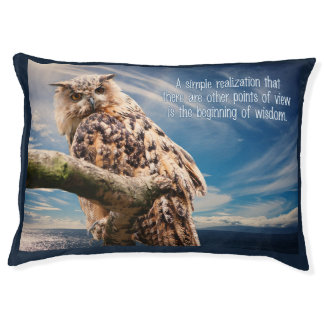 Wisdom Quote Owl dog beds Large Dog Bed