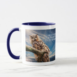 Wisdom Quote Owl mugs
