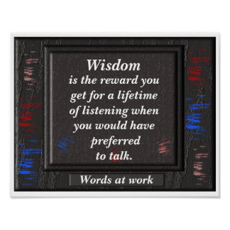 Wisdom - quote print