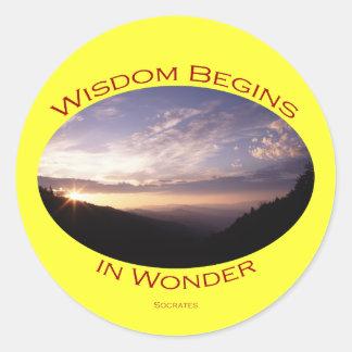 Wisdom Round Sticker