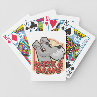 Wise and Brave Schnauzer Poker Deck