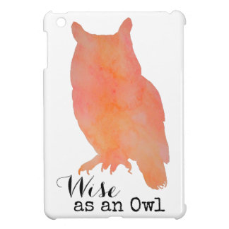 Wise as an Owl Woodland Watercolor iPad Mini Case