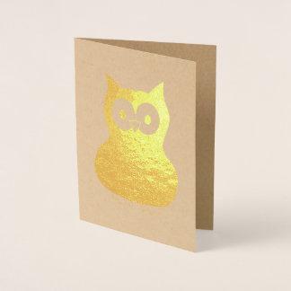 Wise Brown Owl Bird Hoot Animal Gift Foil Card