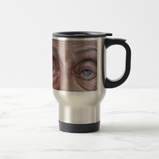 Wise eyes travel mug