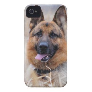 Wise German Shepherd Puppy iPhone 4 Covers