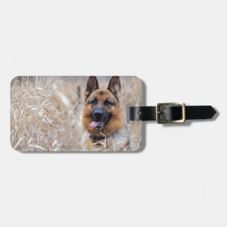 Wise German Shepherd Puppy Luggage Tag