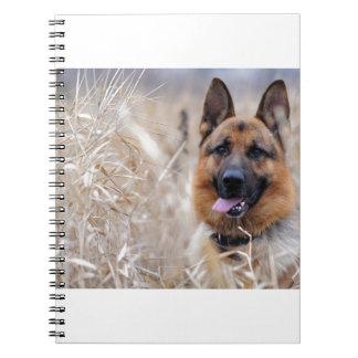 Wise German Shepherd Puppy Spiral Note Book