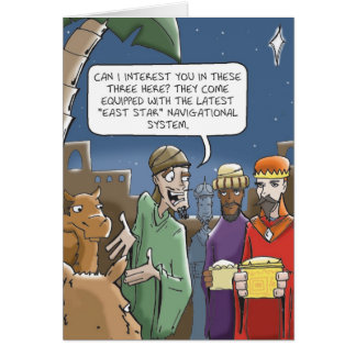 Wise Men Always Get Directions Greeting Card