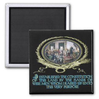 Wise Men Raised up by God for this Purpose Square Magnet