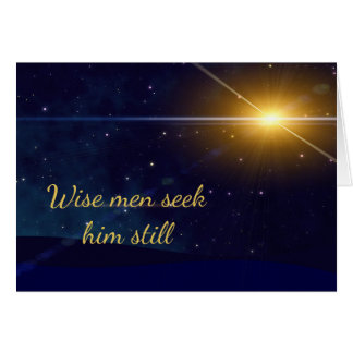 Wise Men Seek Him Still Christmas Card