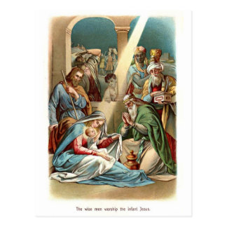 Wise Men Worship Postcard
