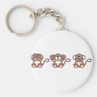 wise monkeys keychain