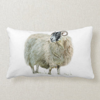 Wise Mother Sheep Throw Pillow