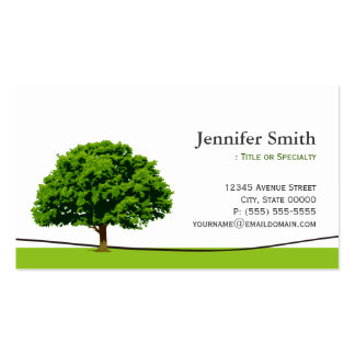 Wise Oak Tree Care Service - Appointment Business Card