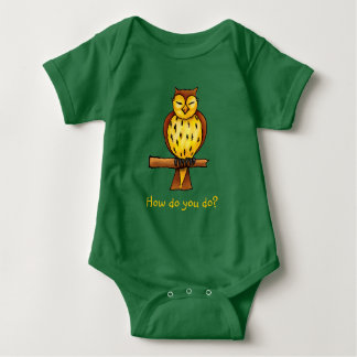Wise owl | Adorable Baby Bodysuit