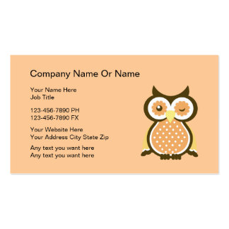 Wise Owl Business Cards