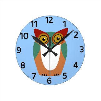 Wise Owl Cartoon Wallclock