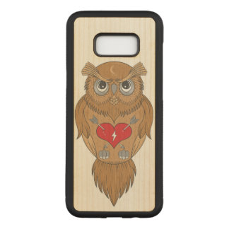 Wise Owl Carved Samsung Galaxy S8+ Case