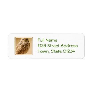 Wise Owl Return Address Labels