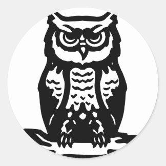 Wise Owl O RLY? Round Sticker