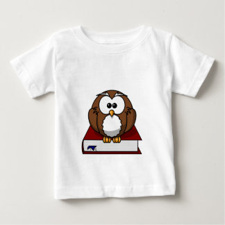 Wise Owl on Book, teacher, wisdom, knowledge study Baby T-Shirt