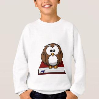 Wise Owl on Book, teacher, wisdom, knowledge study Sweatshirt