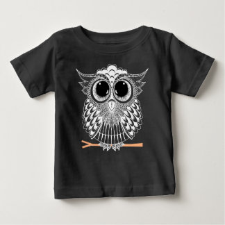 Wise Owl Zentangle Mandala Baby T-Shirt