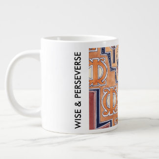 WISE & PERSEVERES LARGE COFFEE MUG