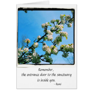 Wise Quotes Spring Floral Card