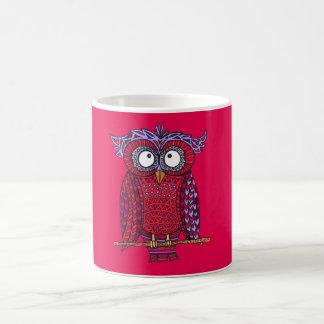 Wise Red Owl Mug