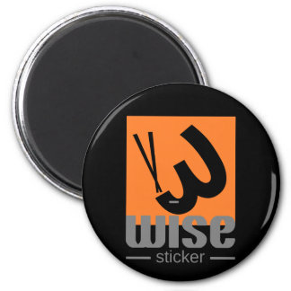 wise sticker magnet