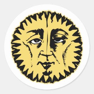 Wise Sun Round Sticker