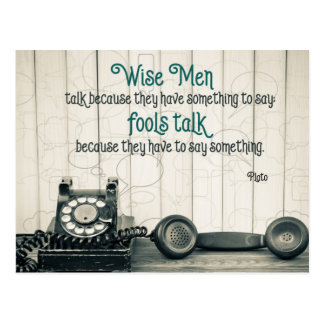 Wise Talk Postcard