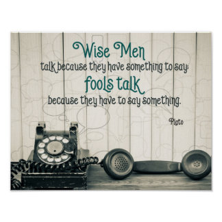 Wise Talk Poster