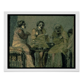 Wise woman and her patients, from the Villa Cicero Poster