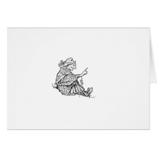 Wise Woman Sketch Design Card