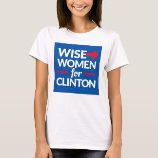 WISE WOMEN FOR CLINTON Square Logo Tee