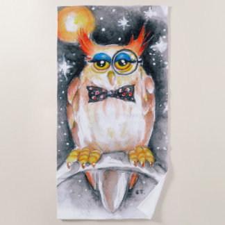 Wisey The Owl Beach Towel