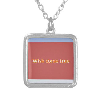 wish come true silver plated necklace