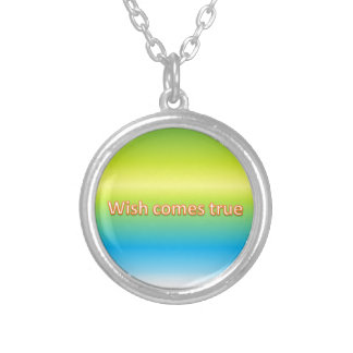 wish comes true silver plated necklace