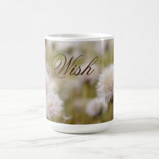"""""""Wish"""" Fluffy Dandelion Field Coffee Mug"""