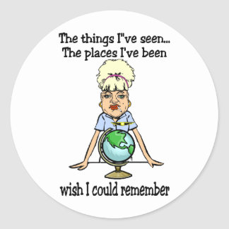 Wish I Could Remember Classic Round Sticker