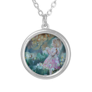 Wish I May Silver Plated Necklace