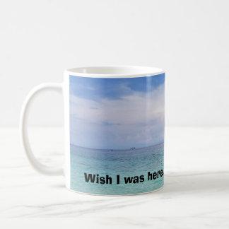 Wish I was here Mug - Left Handed