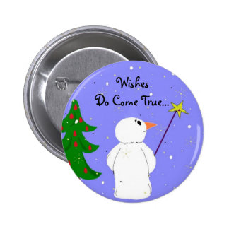 Wish Maker Snowman 2 Inch Round Button