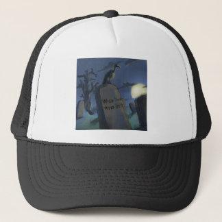 Wish U Were Here Funny Halloween Headstone Gift Trucker Hat