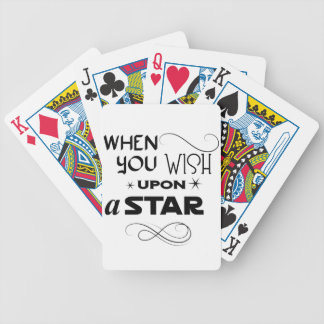 wish upon a star bicycle playing cards